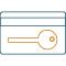 Icono llave de acceso